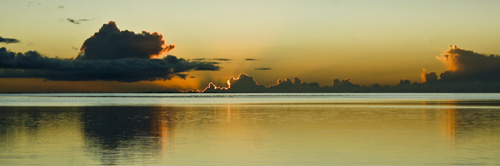 Sunset from the Palm Grove PANO