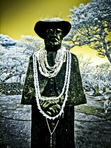 Father Damien Statue Infrared